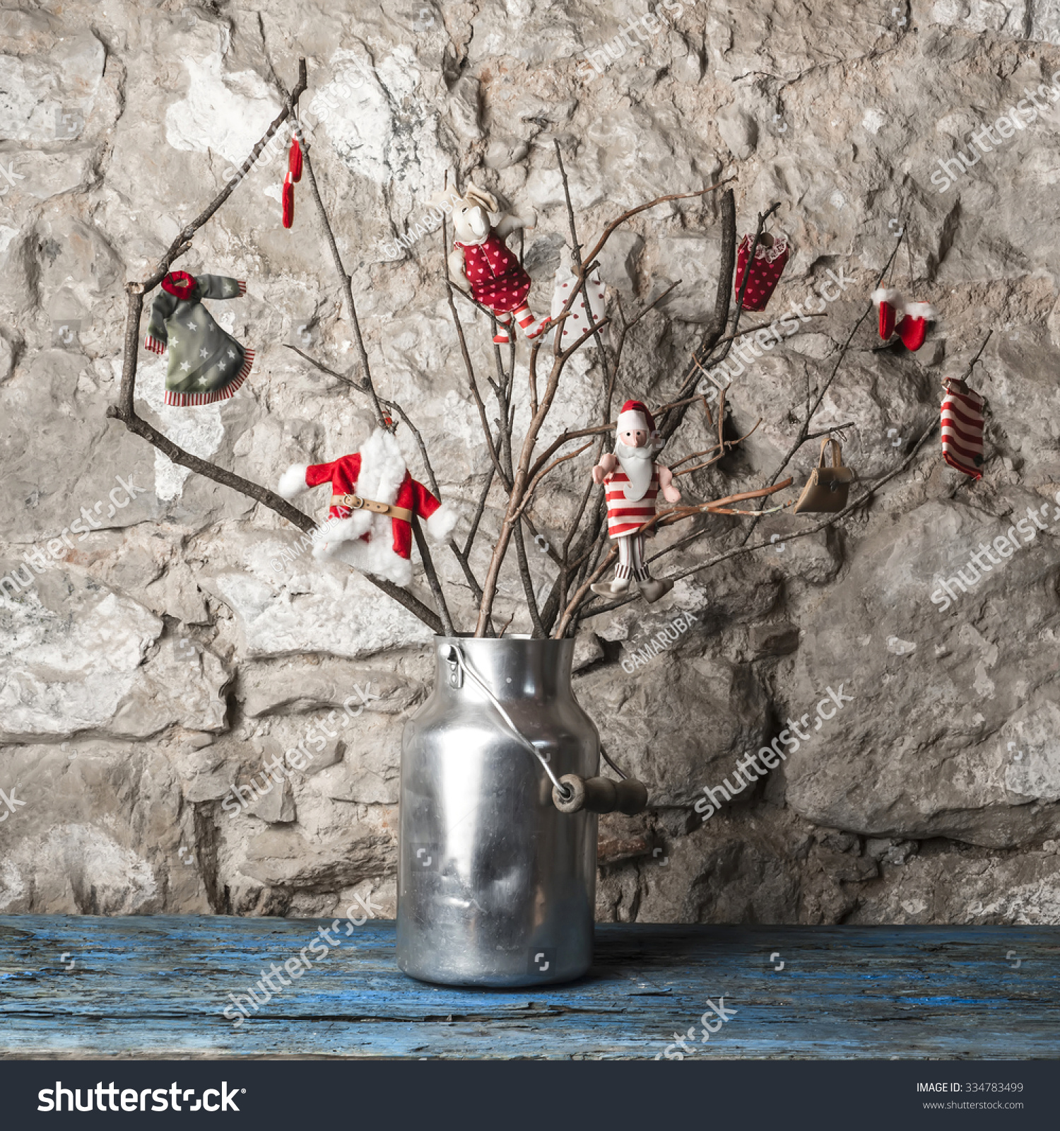 Christmas Rustic Decoration Dry Tree Branches Stock Photo (Edit Now ...