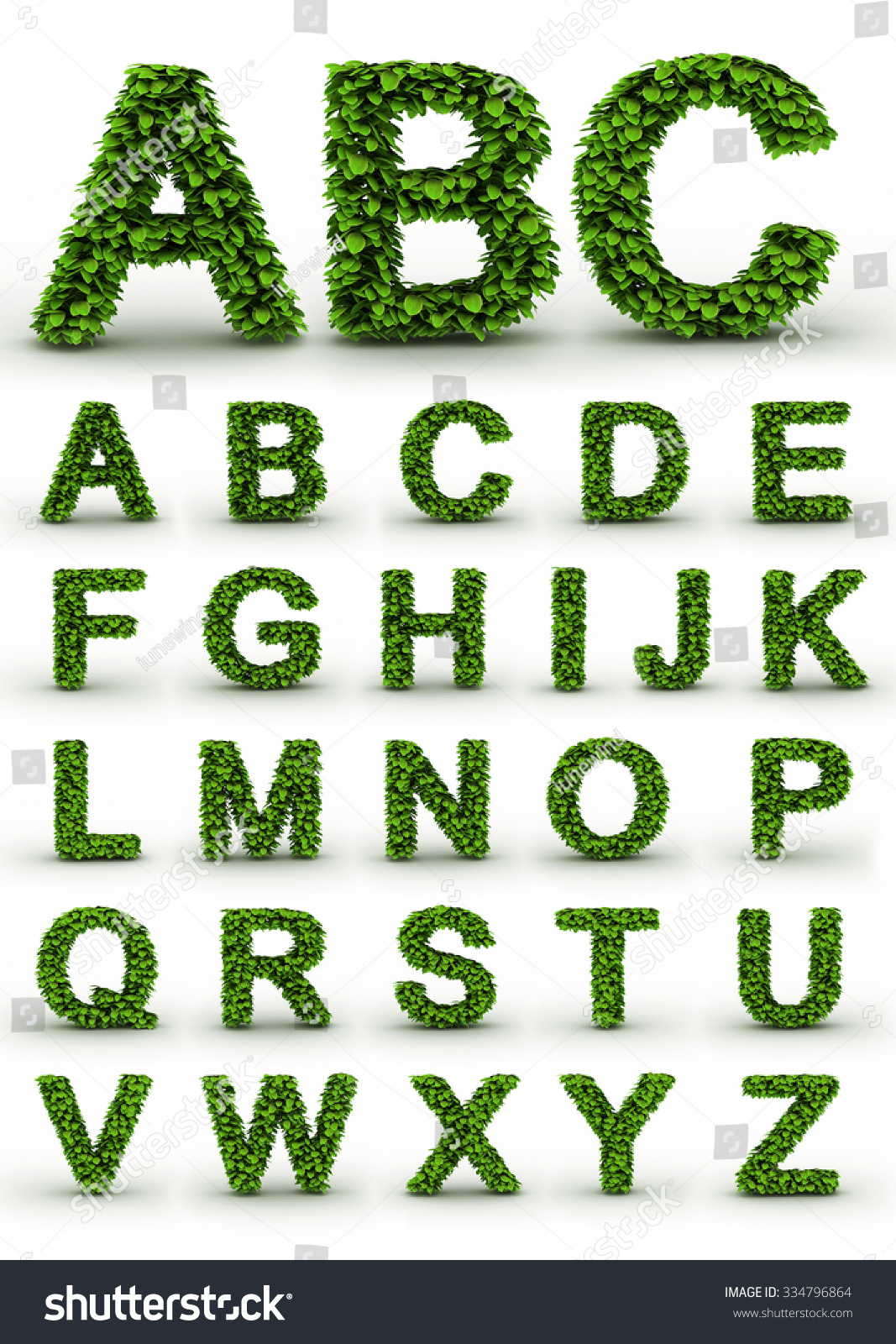 Green fresh leaves ecology font full stock illustration 334796864 green fresh leaves ecology font full alphabet letters set biggest version of each letter biocorpaavc Gallery