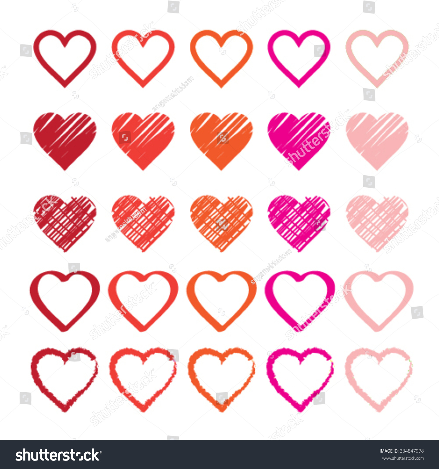 Rainbow Heart Shape Love Vector Logo Stock Vector ...
