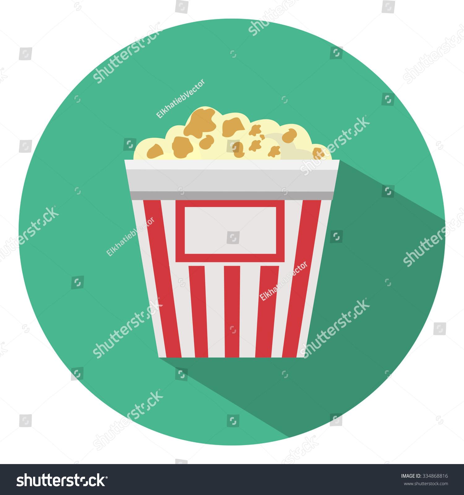 Popcorn Flat Icon Stock Vector 334868816 - Shutterstock