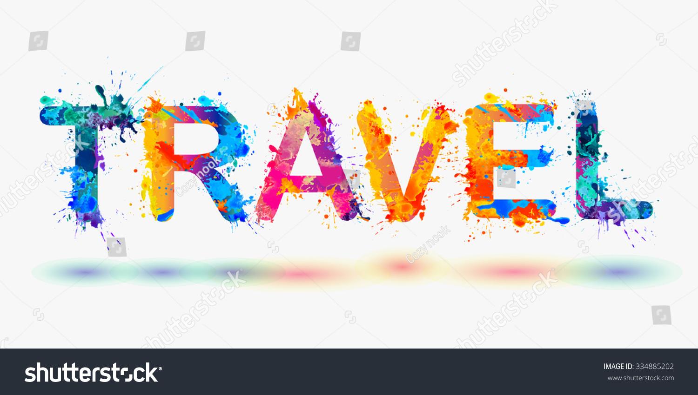 Word Travel Rainbow Splash Paint