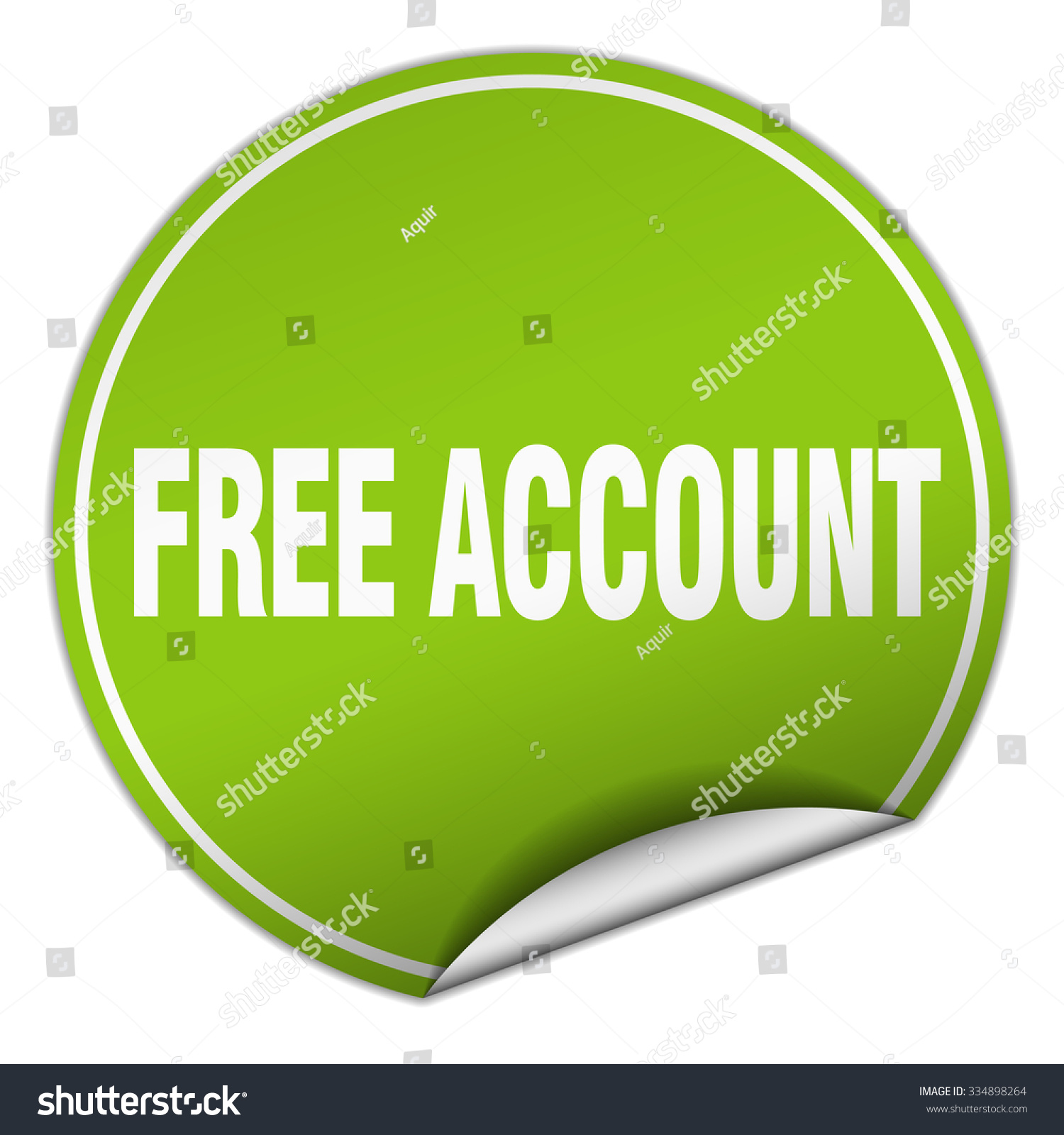 free account round green sticker isolated stock vector hd royalty