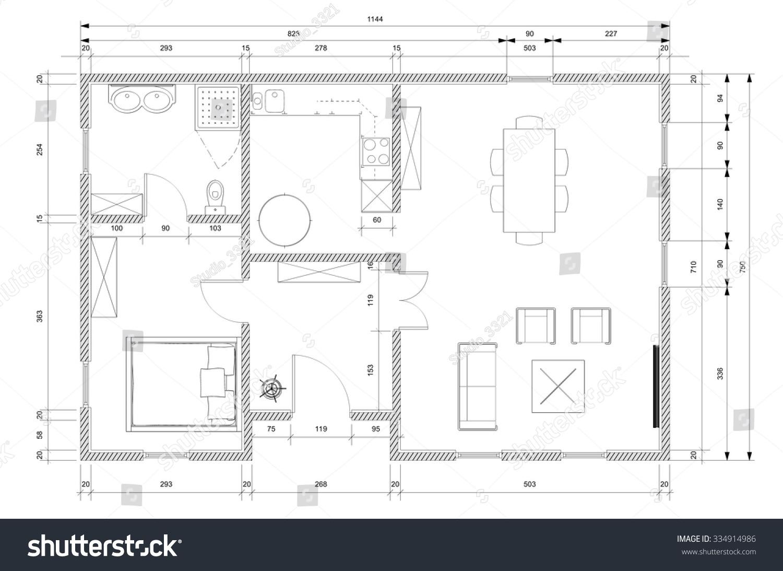 White architect plan personnal house construction stock white architect plan for personnal house construction ccuart Images