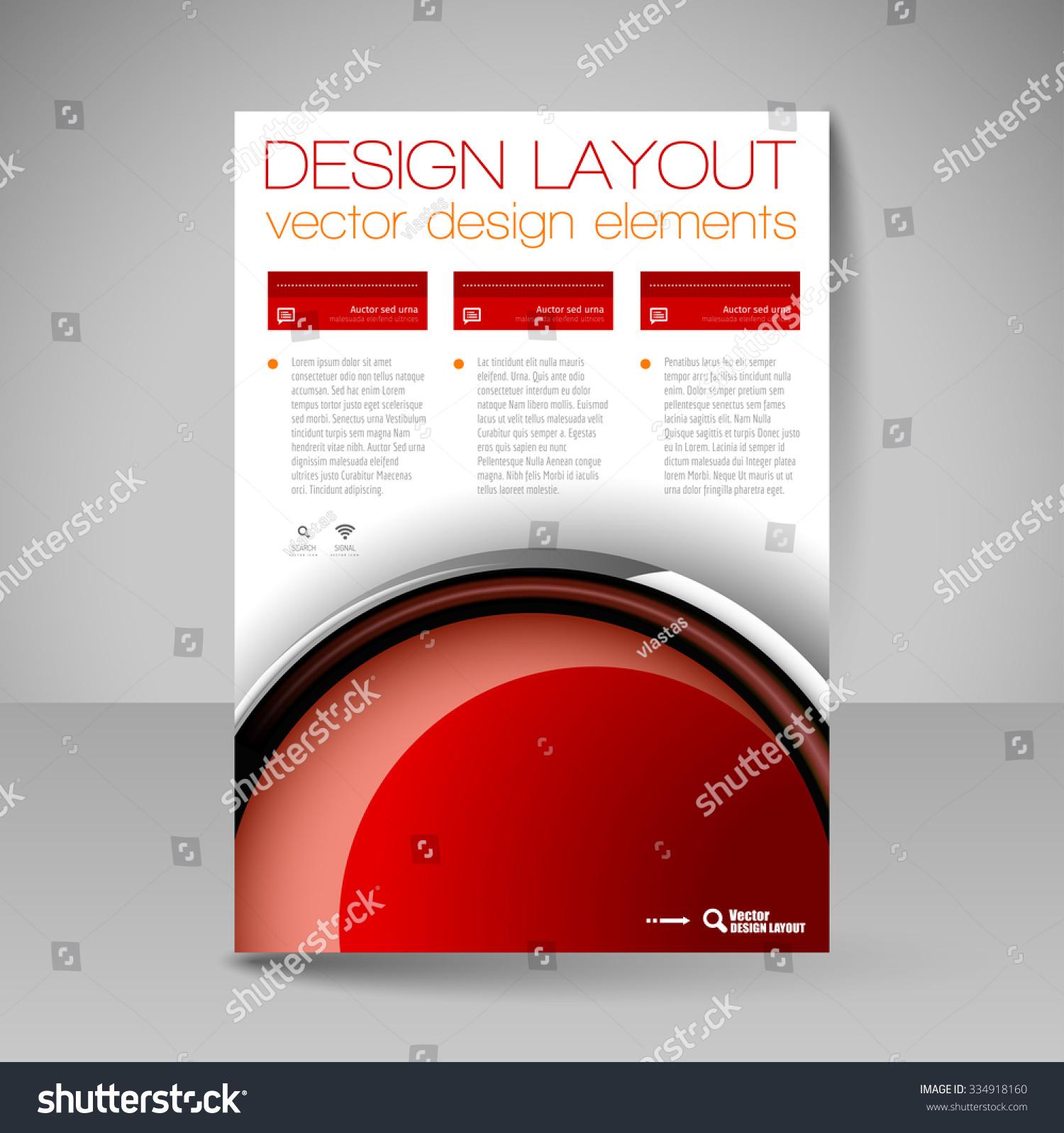 template brochure flyer editable site business stock vector 334918160 shutterstock. Black Bedroom Furniture Sets. Home Design Ideas
