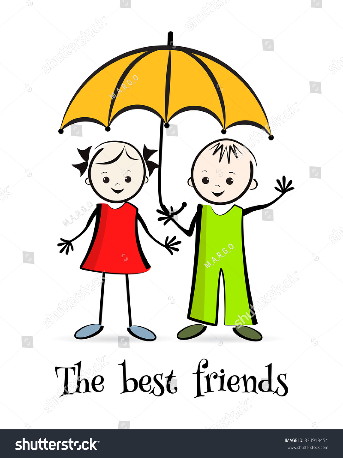 465b076f Happy Children Best Friends Tshirt Design Stock Vector (Royalty Free ...
