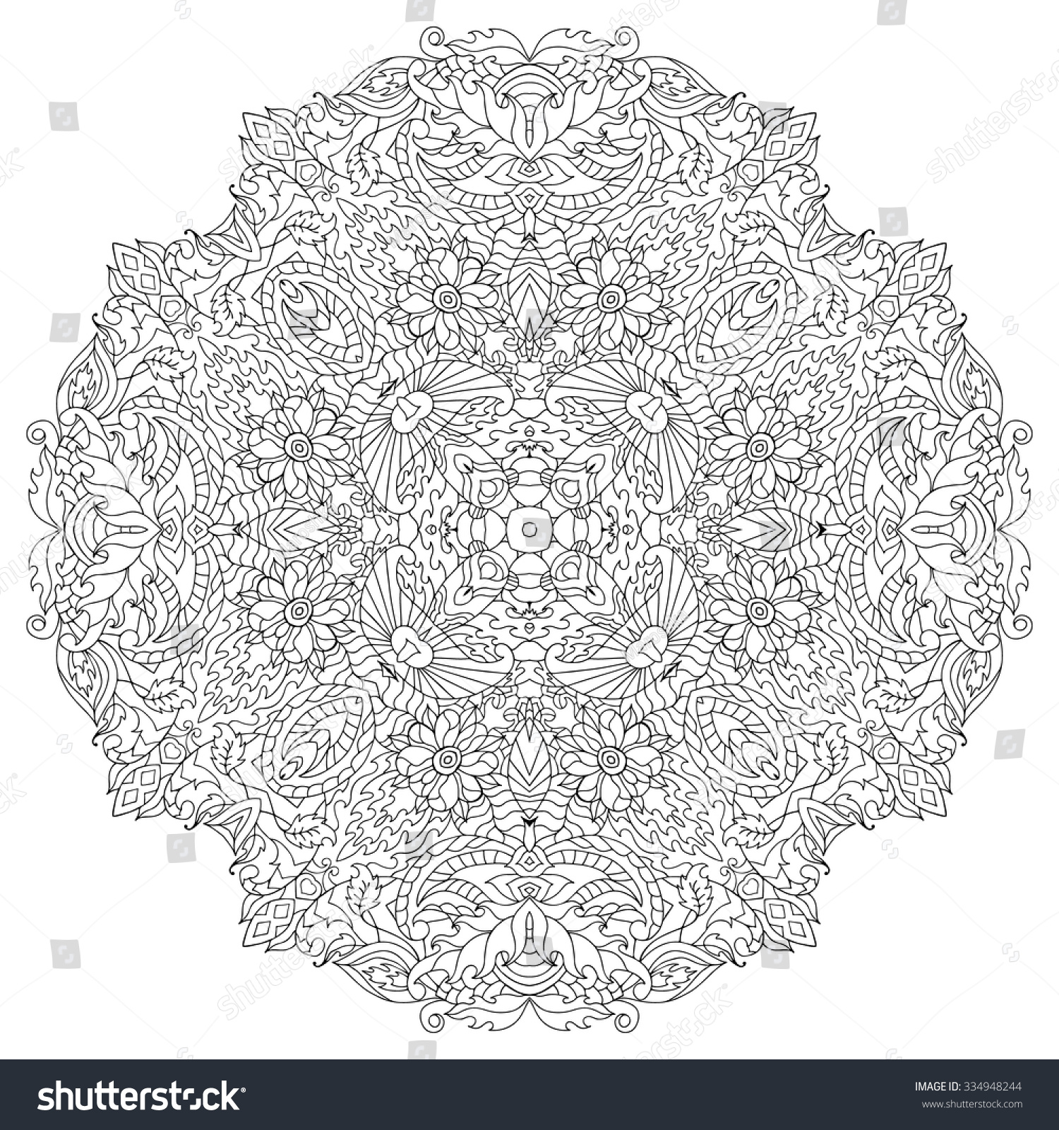 Zen coloring flowers - Anti Stress Colouring Online Zen Flower Coloring Pages Zen Flower Coloring Pages Stress Coloring Flowers