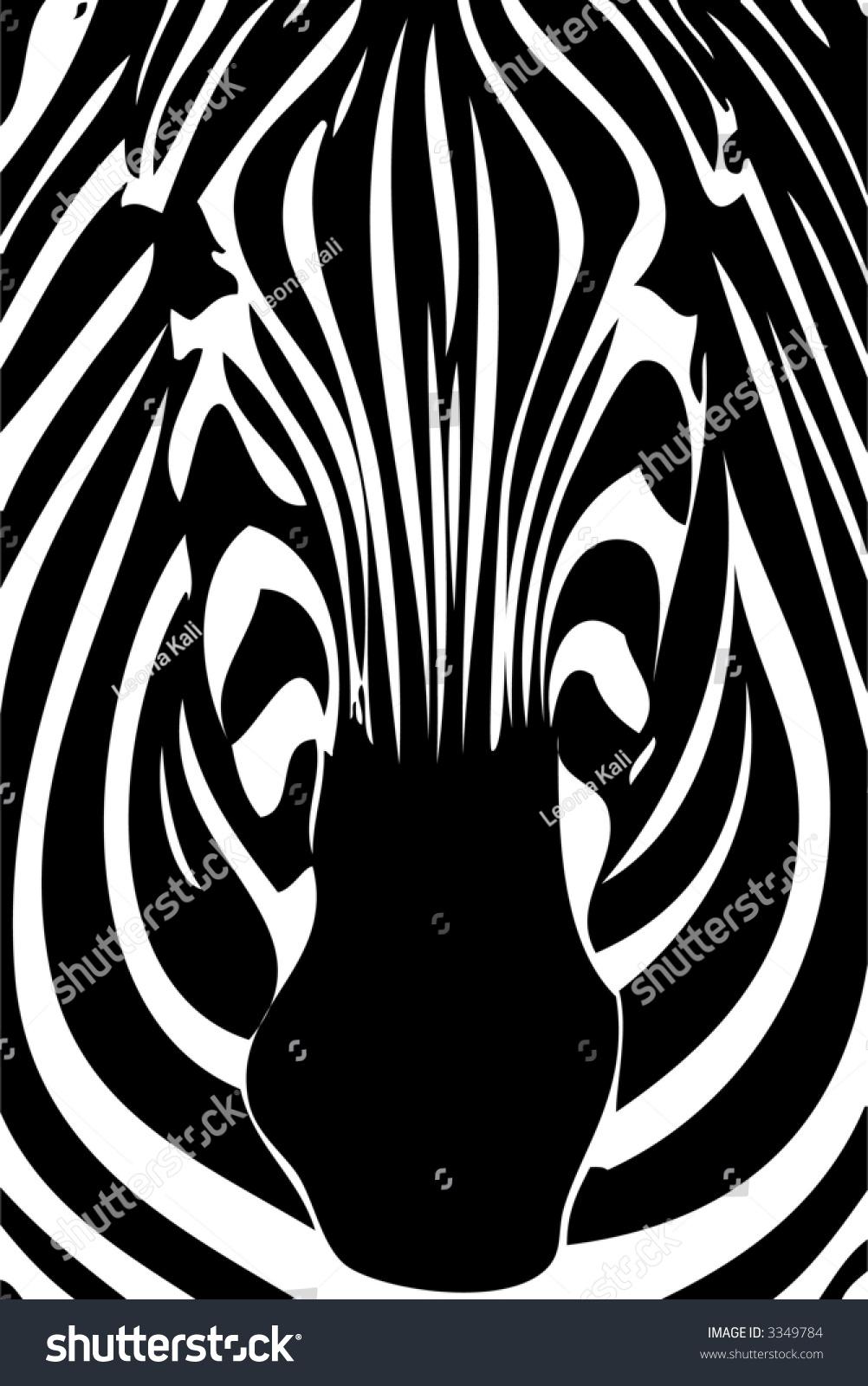zebra face stock vector 3349784 shutterstock