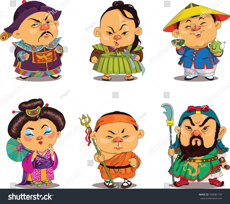 Asian cartoon charcters