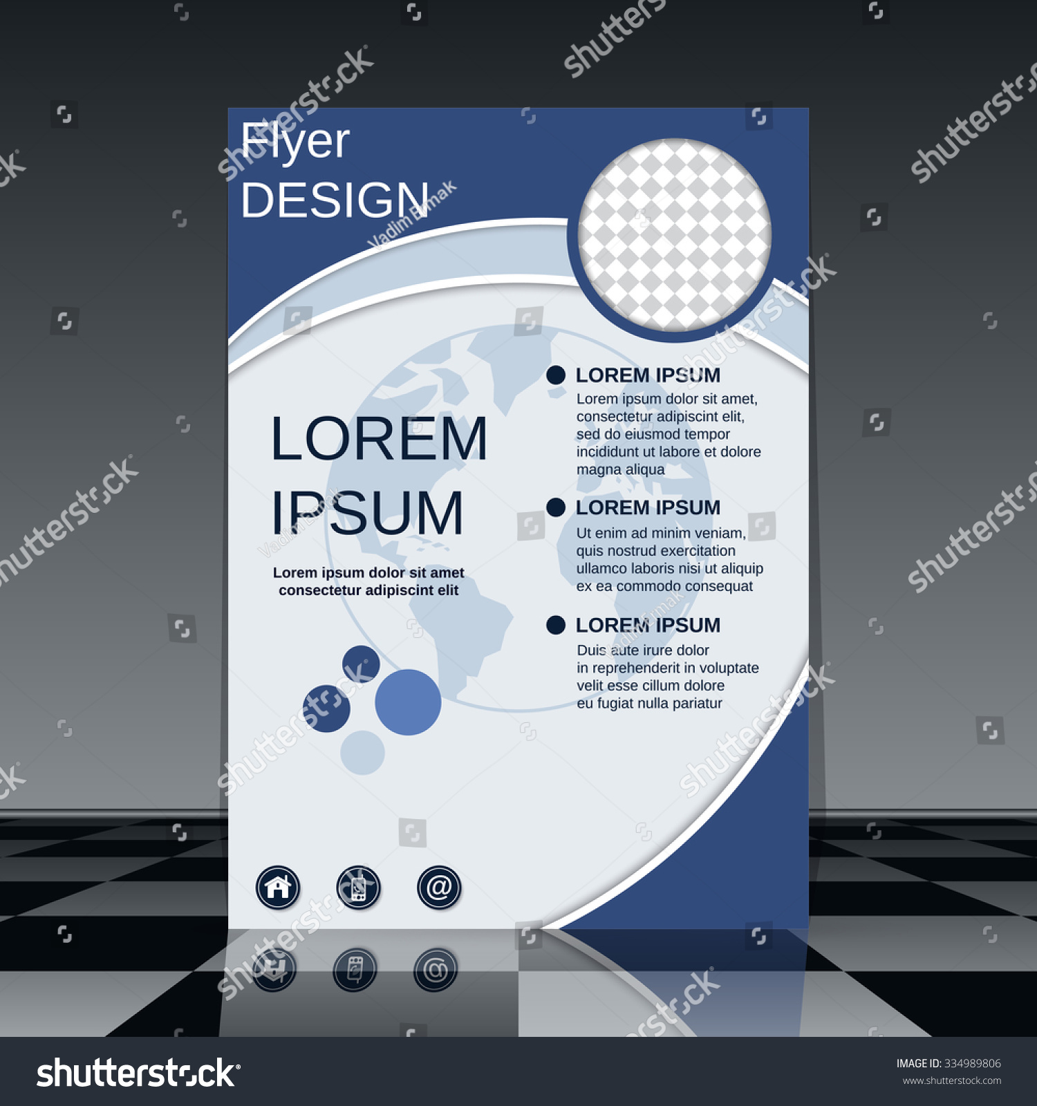 Vector Brochure Flyer Magazine Folder T Shirt Cover: Booklet Cover Vector Template. Brochure, Mockup, Business