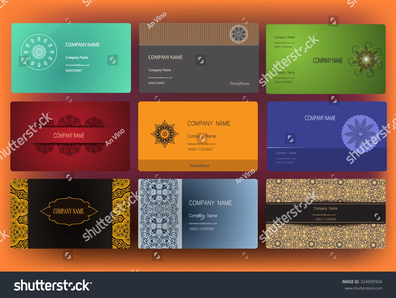 Set Business Card Invitation Card Templates Stock Vector 334999904 ...