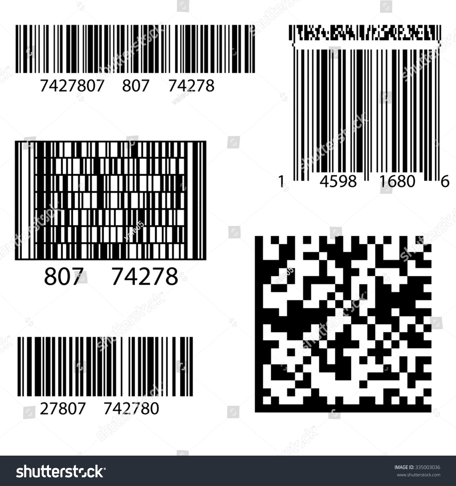 Product Barcode 2d Square Label Sample Illustration – Product Label Sample