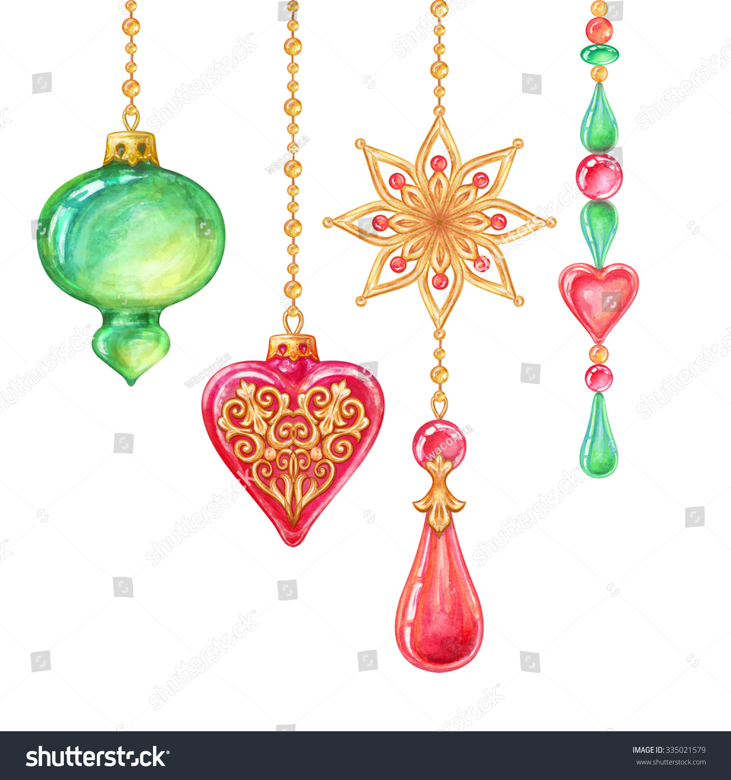 Royalty free christmas tree hanging ornaments glass