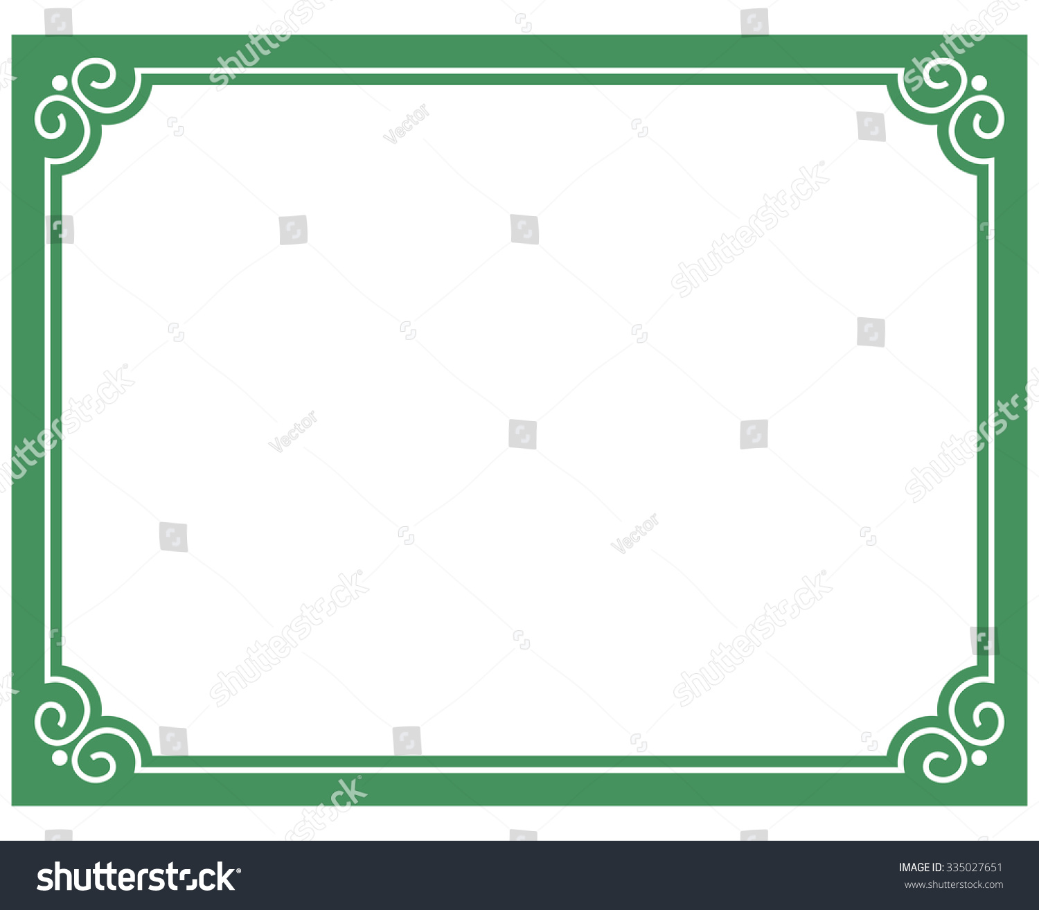 green border frame deco vector art stock vector 335027651 shutterstock. Black Bedroom Furniture Sets. Home Design Ideas