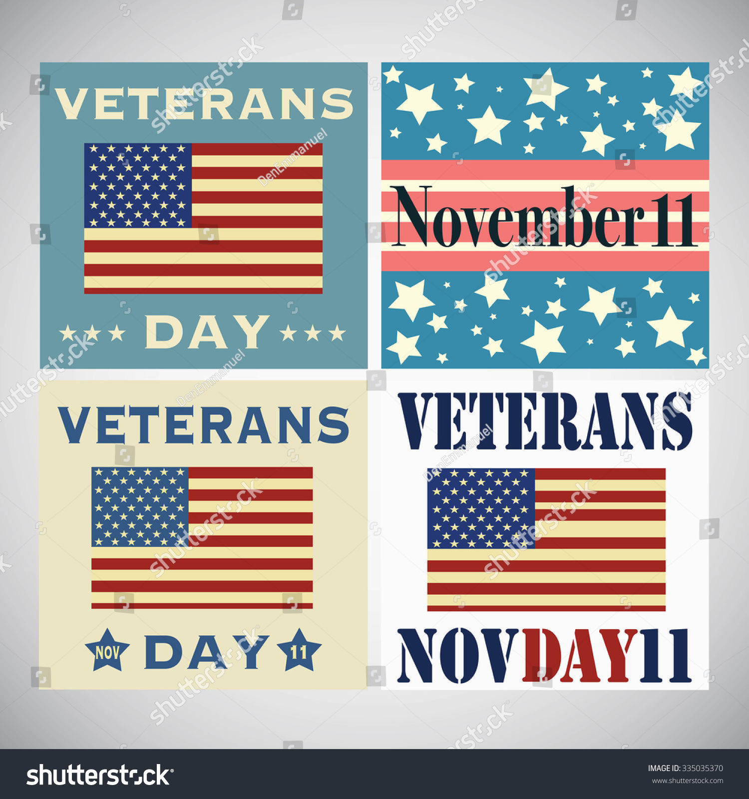 Set veterans day greetings isolated on stock vector 335035370 set of veterans day greetings isolated on white background kristyandbryce Choice Image