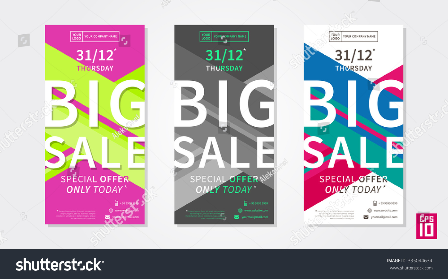 vector colorful promotion banner big stock vector  vector colorful promotion banner big big flyer template