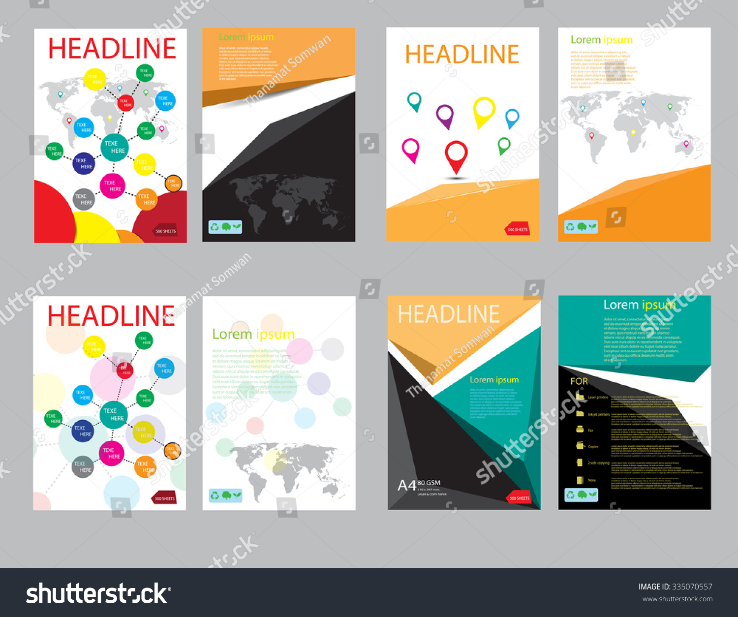 design cover paper report  abstract geometric vector template  design template