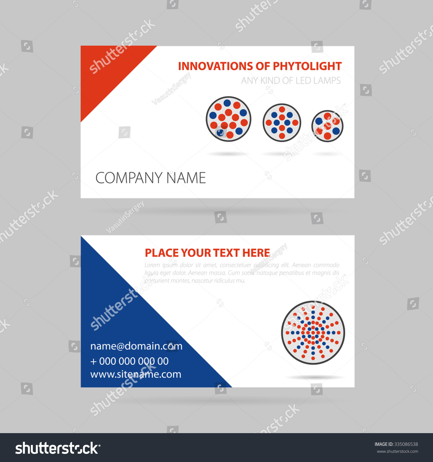 Vector Illustration Drawing Business Card Four Stock Vector (2018 ...