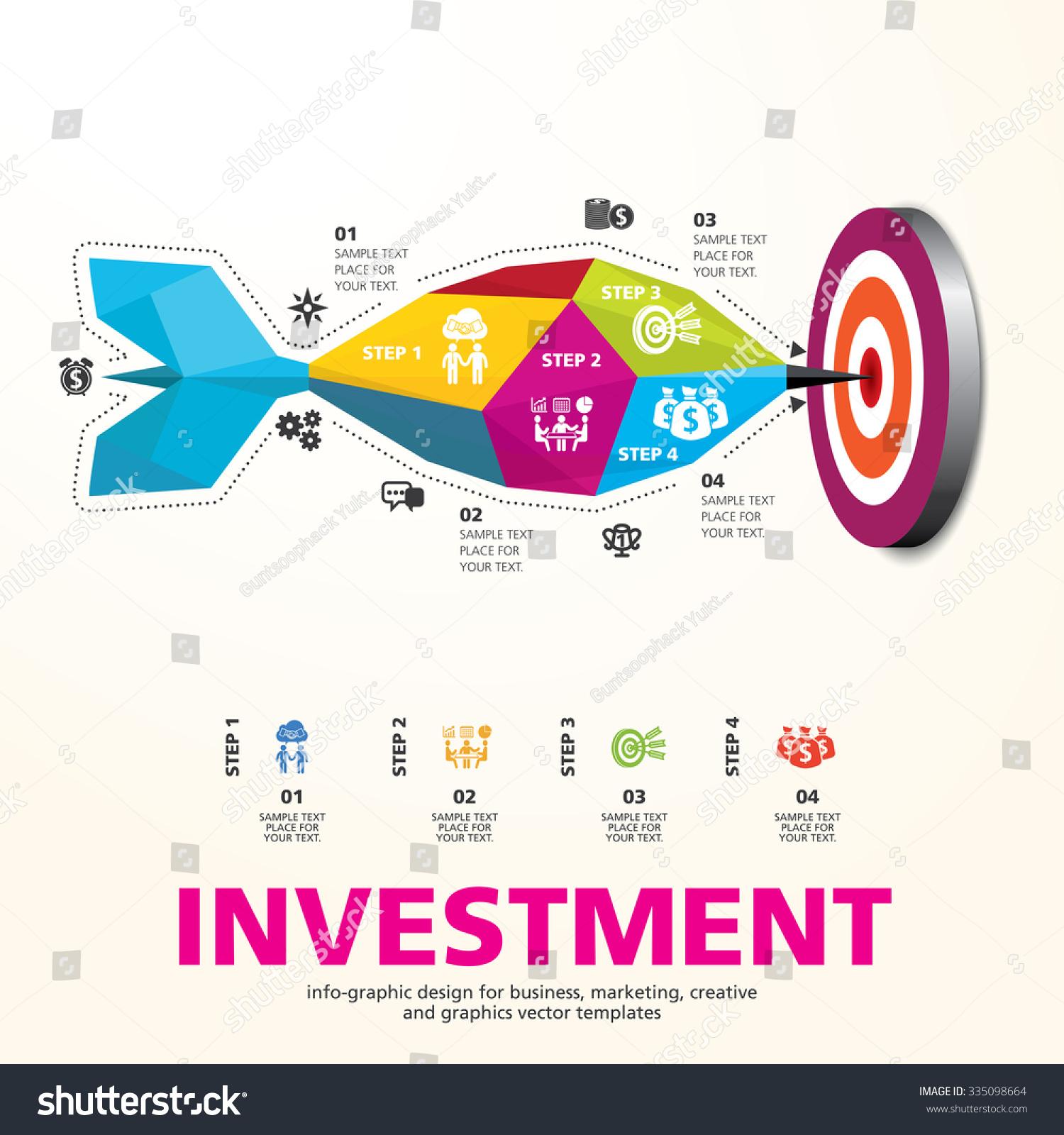Darts Hitting Target Bullseye Business Concept Stock Vector Royalty