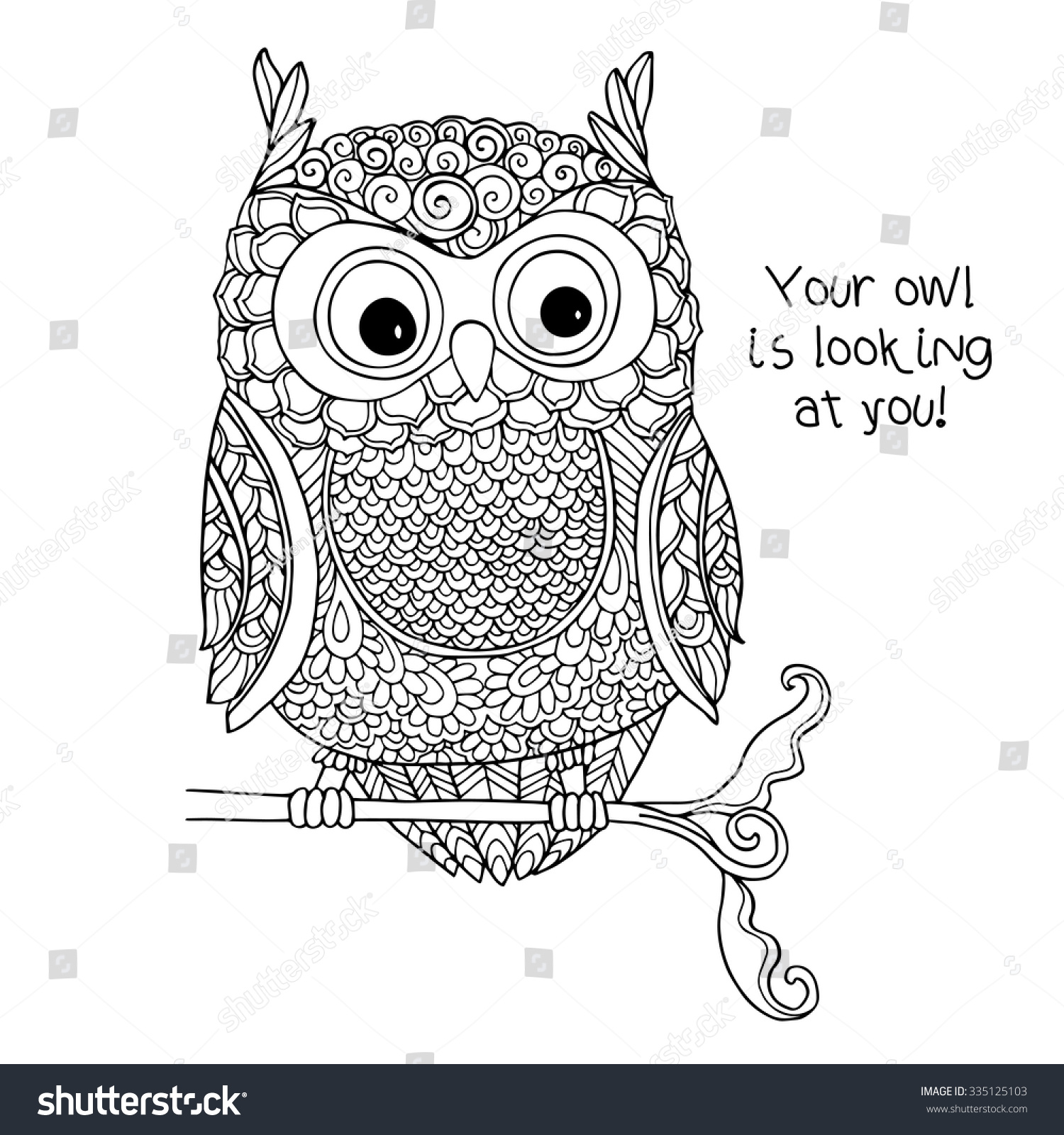unique coloring pages owl ornate - photo#25