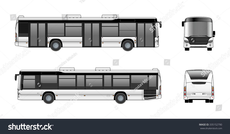 city bus vector template stock vector royalty free 335152790