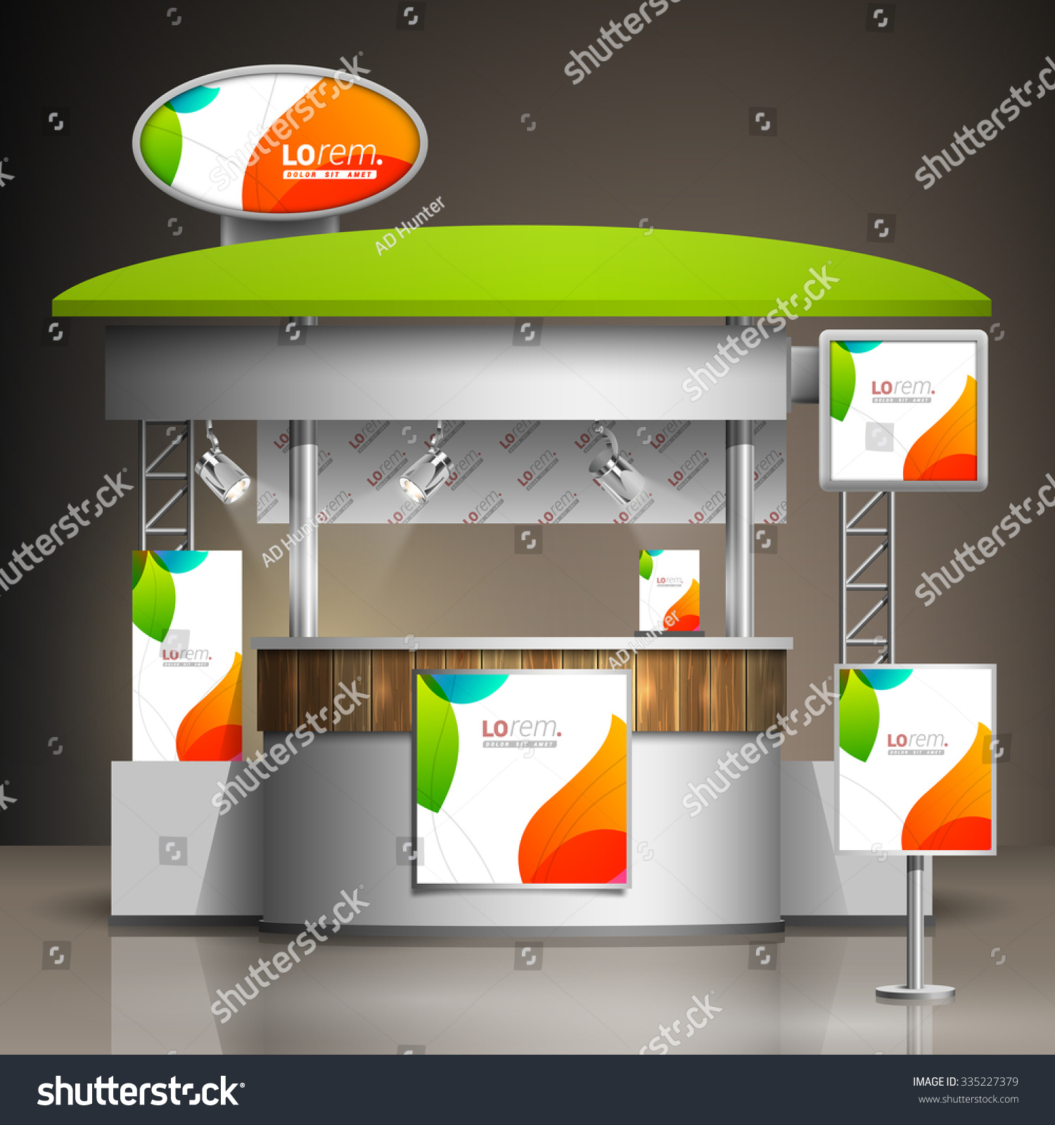 Exhibition Stand Design Template : White creative exhibition stand design color stock vector