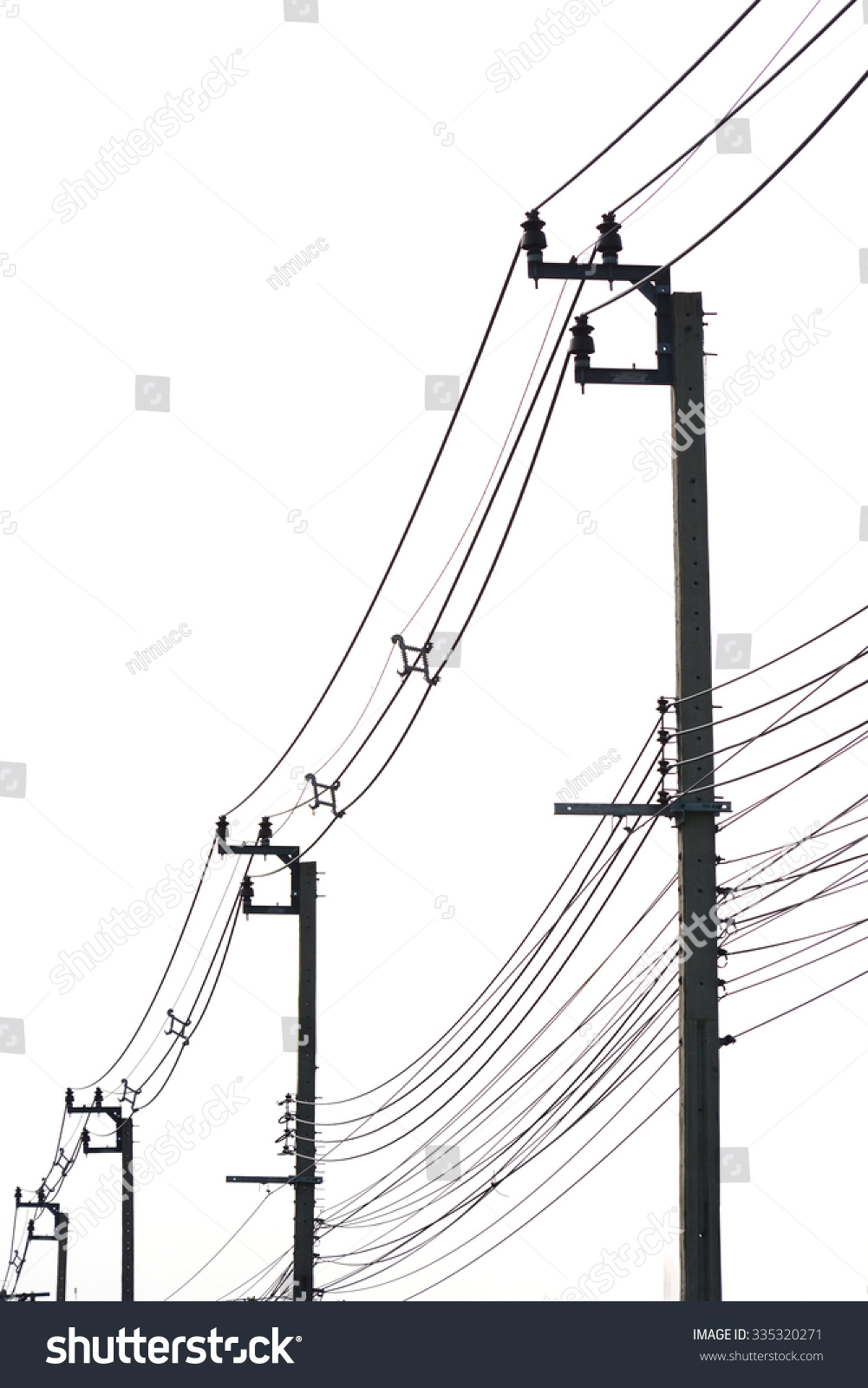 electricity post with many wire, dreamy color background | EZ Canvas