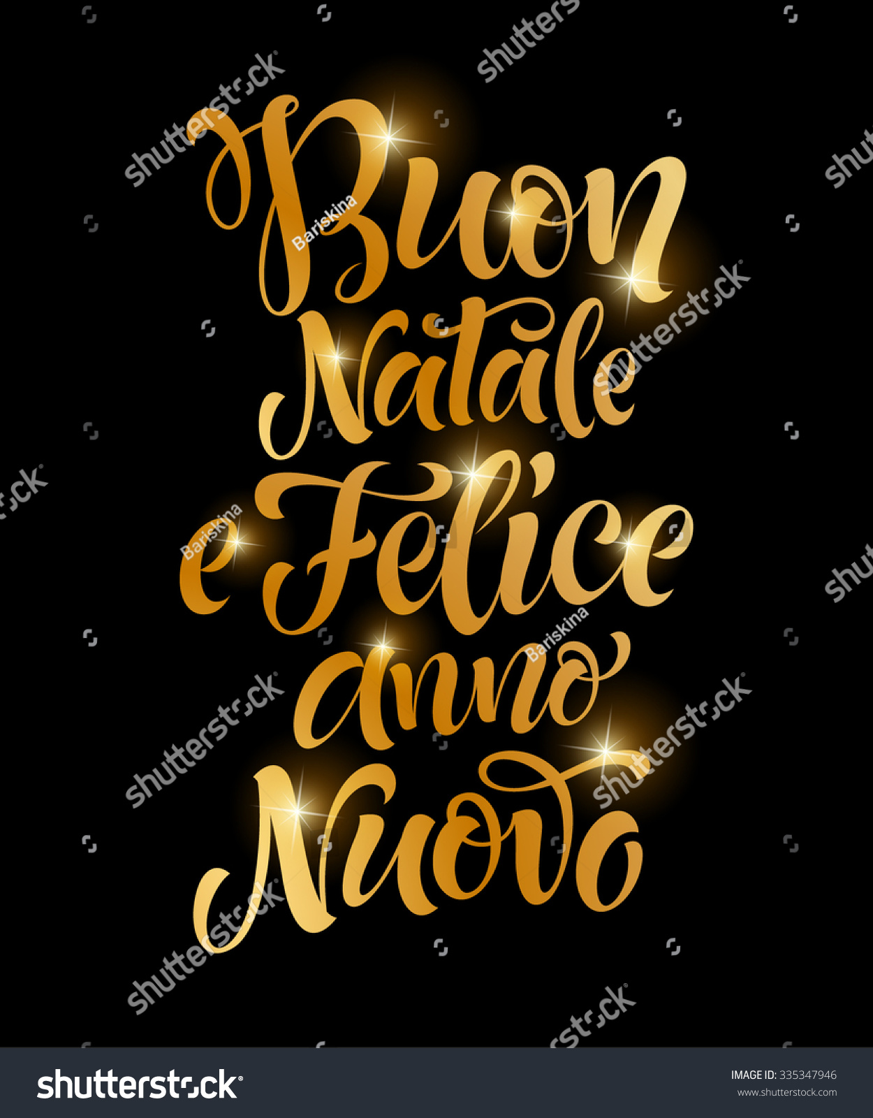 Merry christmas happy new year italian stock vector 335347946 merry christmas and happy new year italian golden text buon natale e felice anno kristyandbryce Images