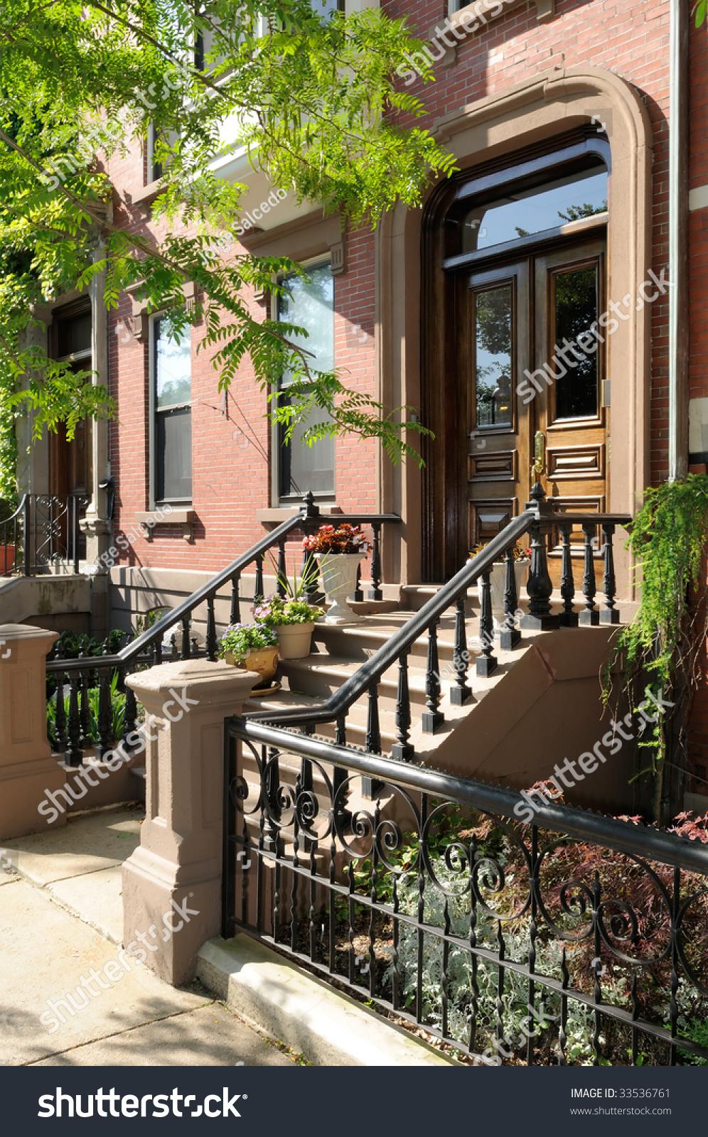 Entrance Of Victorian House In Boston Elegant Steps
