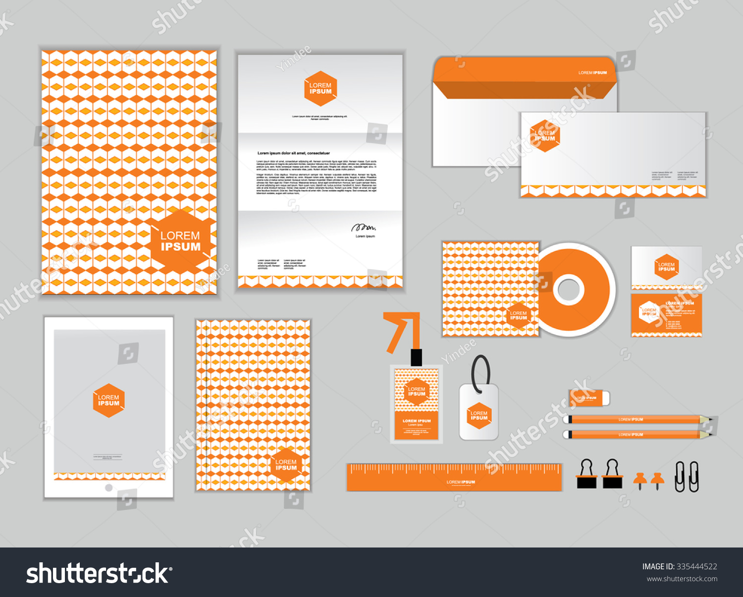 corporate identity template your business includes stock vector