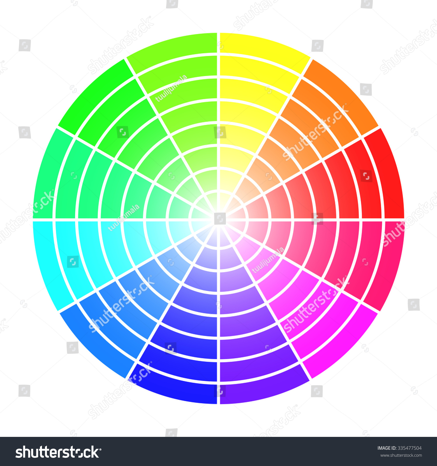 Color Wheel Vector Template Isolated On Stock Vector (2018 ...