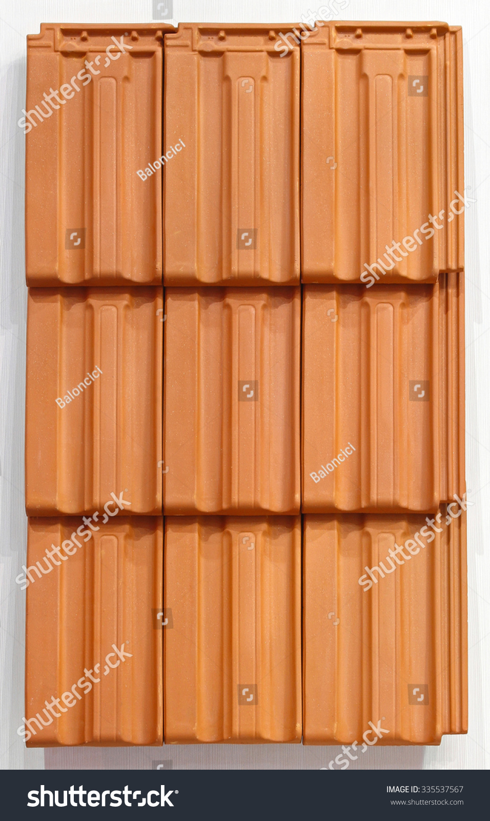Terracotta Ceramic Roof Tiles Texture Background Stock Photo Edit