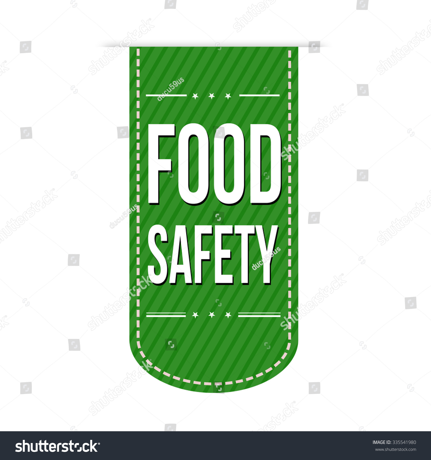 food safety banner design over white stock vector 335541980