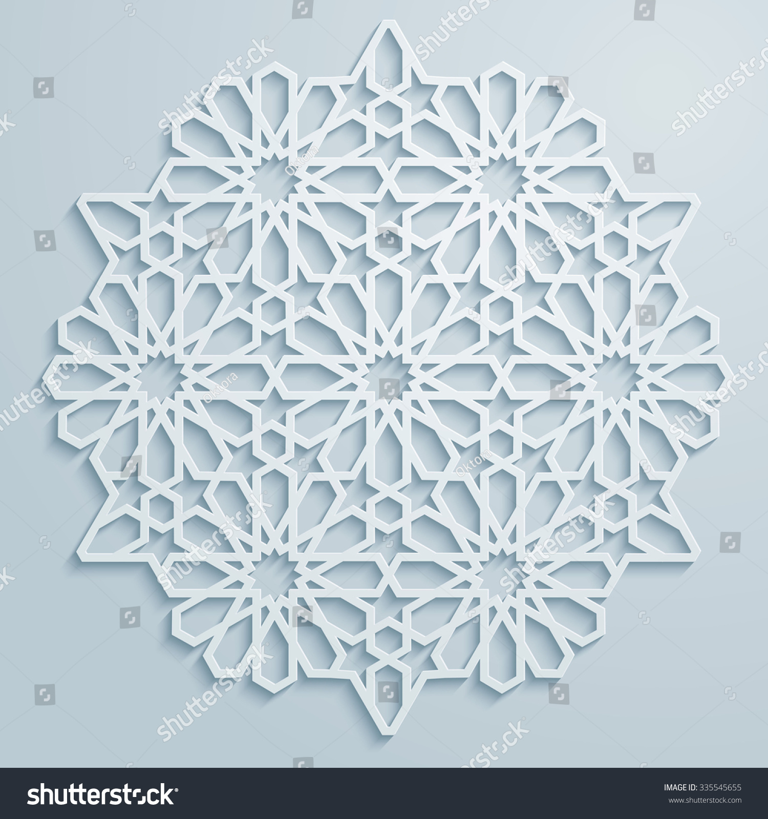 Arabic ornament geometric pattern background