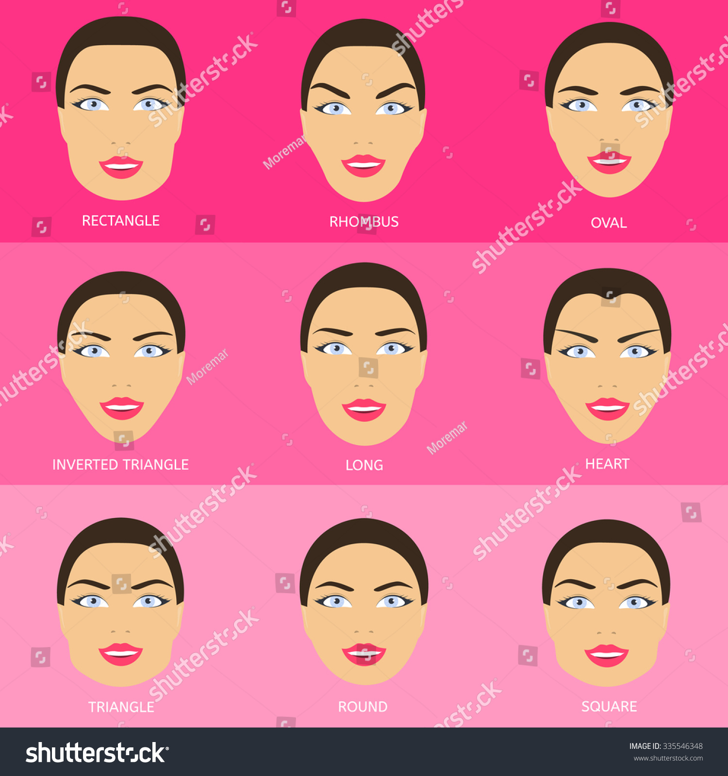 Royalty Free Eyebrow Shape For Different Face Shapes 335546348