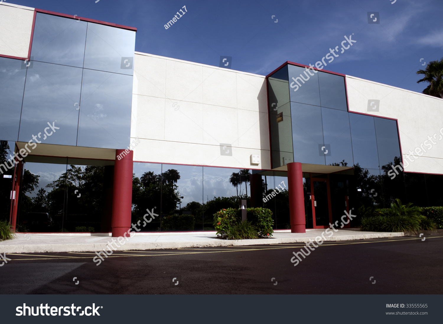 Modern Architecture Office Building Entrance Stock Photo