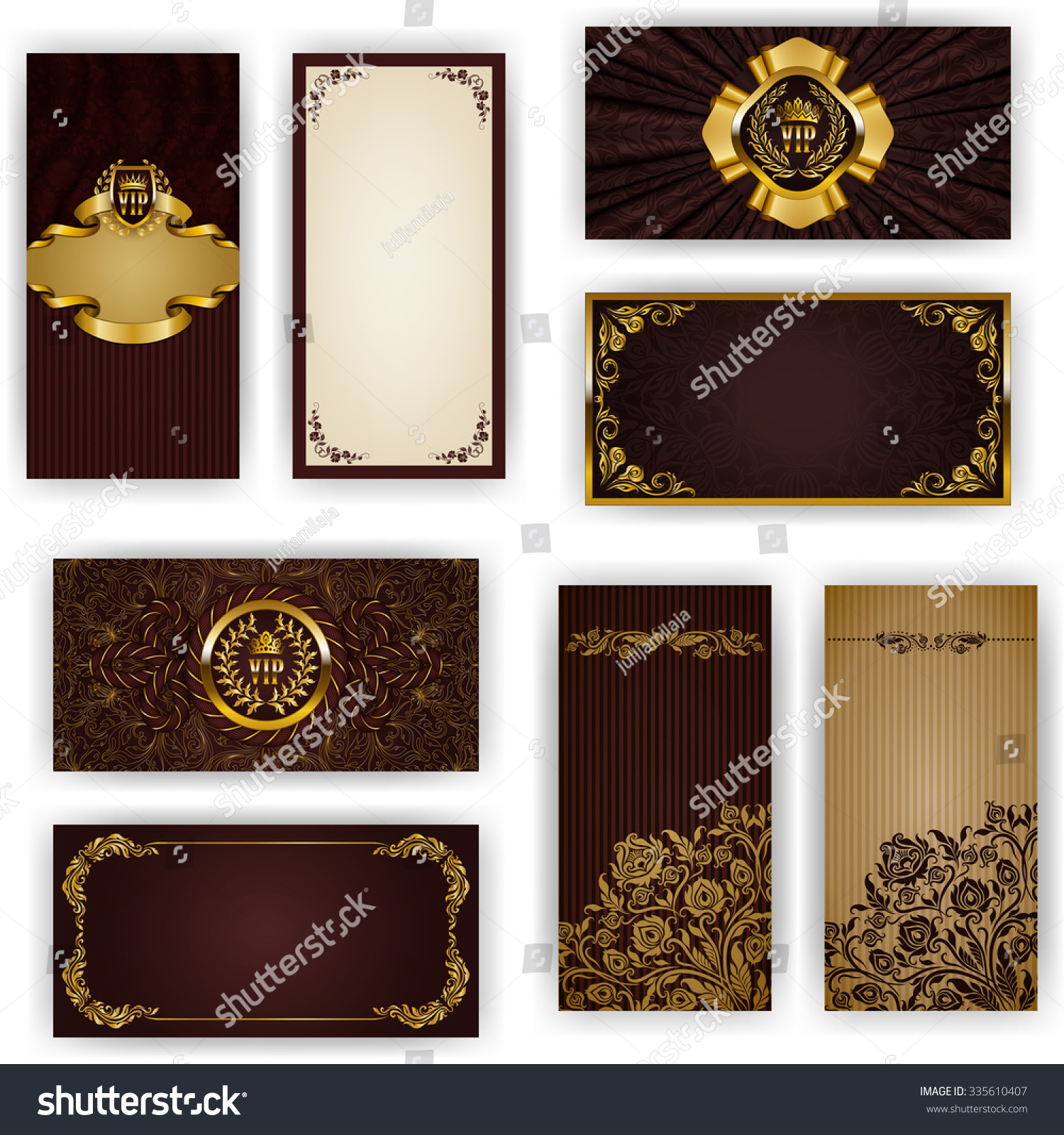 Elegant royal frame with crown vector colourbox - Luxury Ornamental Pattern Template For Design Vector Colourbox Set Elegant Template Vip Luxury Invitation Stock