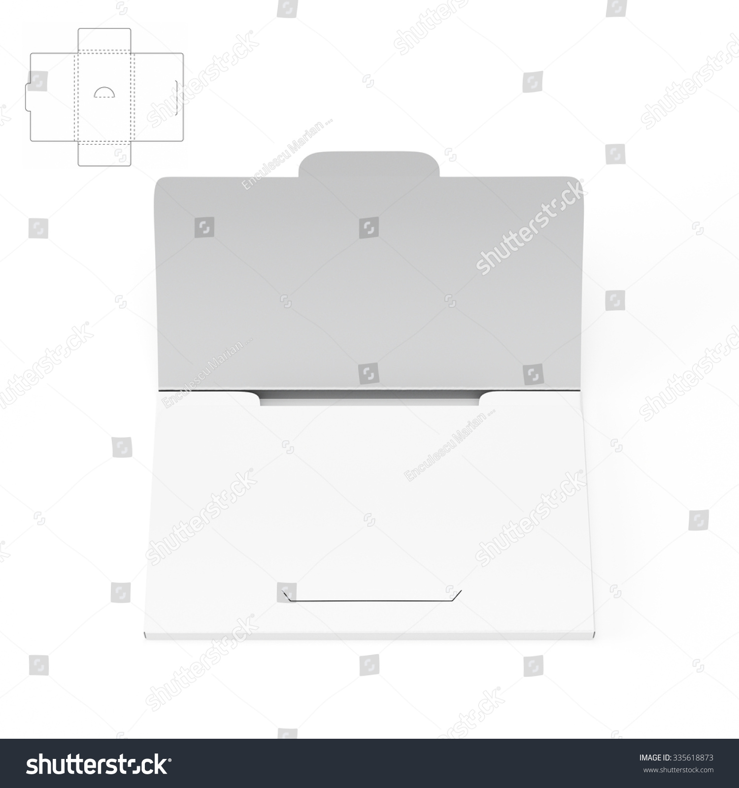 Slim Business Card Box Die Cut Stock Illustration 335618873 ...