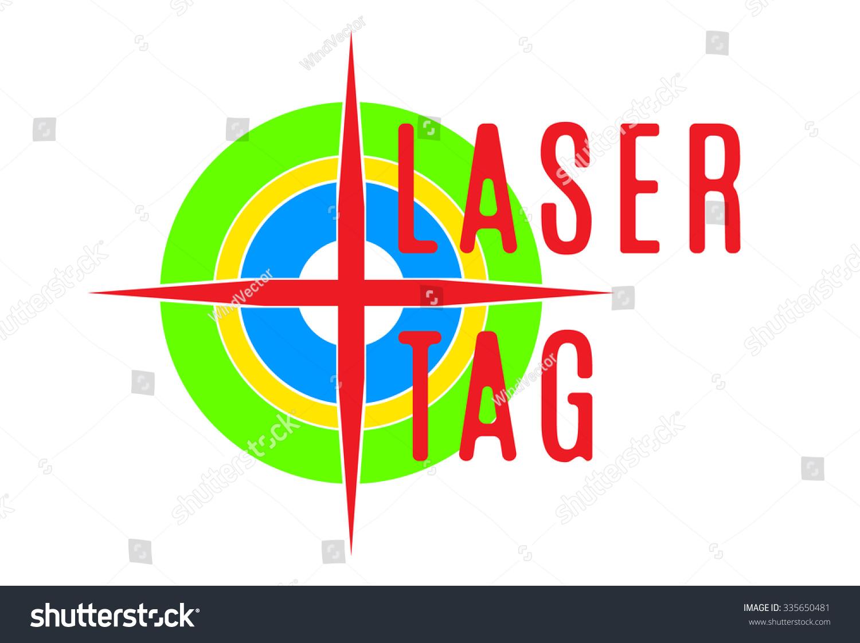 vector illustration emblem laser tag stock vector 335650481 rh shutterstock com Go Cart Clip Art Rock Climbing Clip Art