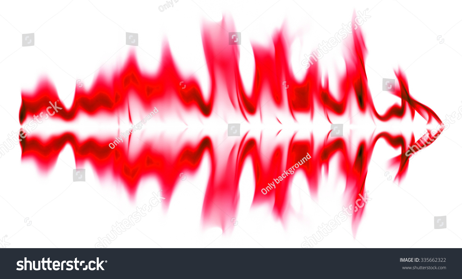 red flame graphics on white background stock photo