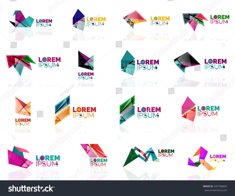 Geometric Shapes Company Logo Set Paper Stock Vector ... - photo#23