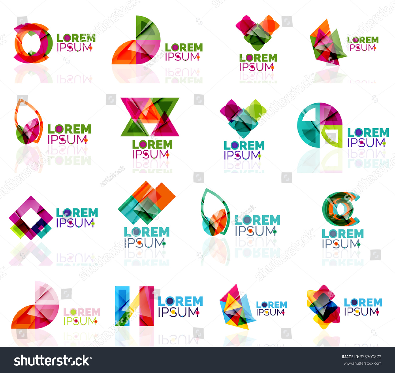 Geometric Shapes Company Logo Set Paper Stock Vector ... - photo#34