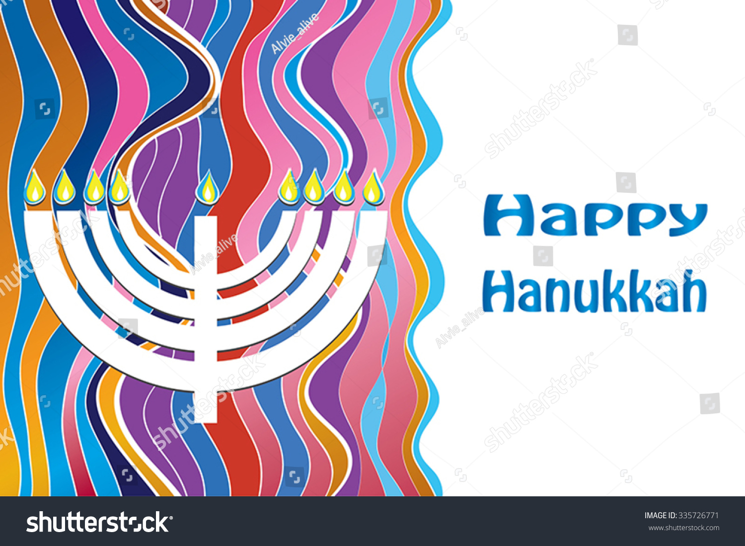 Happy hanukkah greeting card design hebrew stock vector 335726771 happy hanukkah greeting card design hebrew greeting text vector illustration jewish holiday with menorah m4hsunfo Image collections