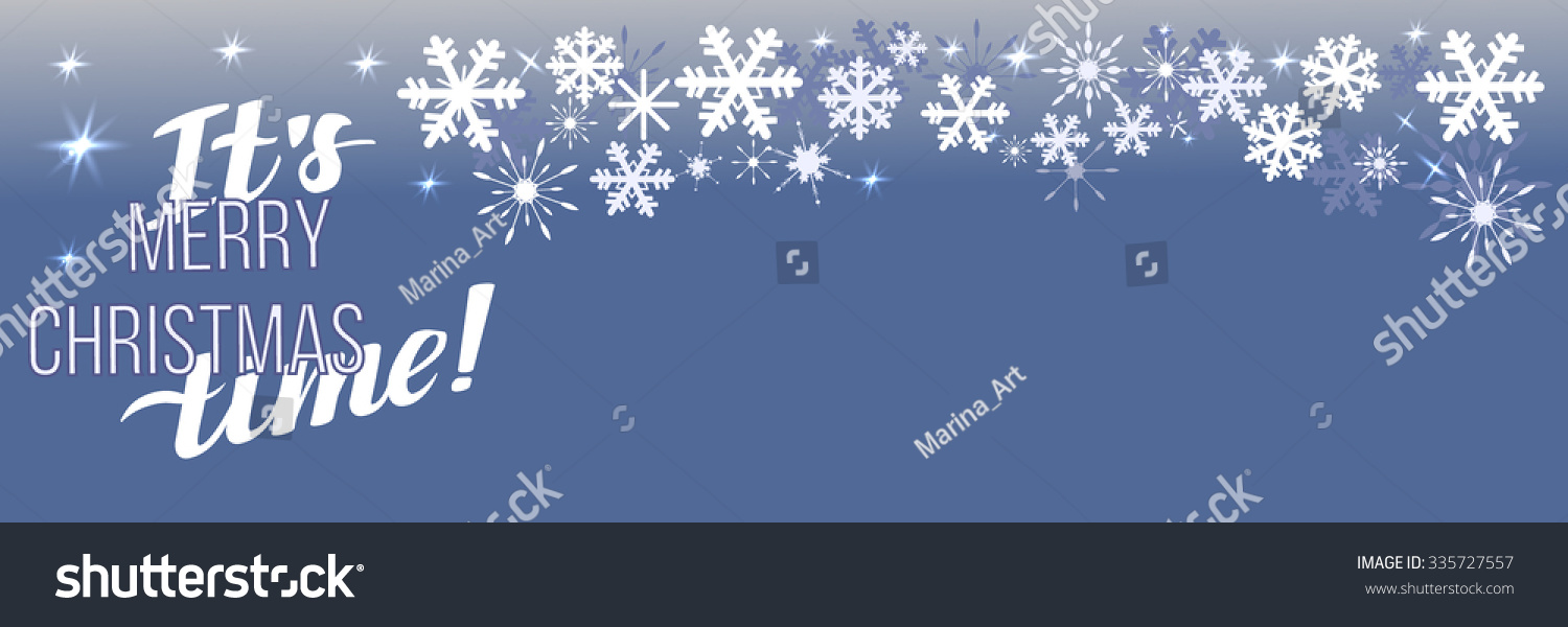Merry christmas background with snowflakes can be use as banner or