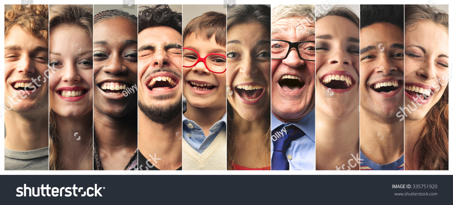 Stock Photo Laughing People
