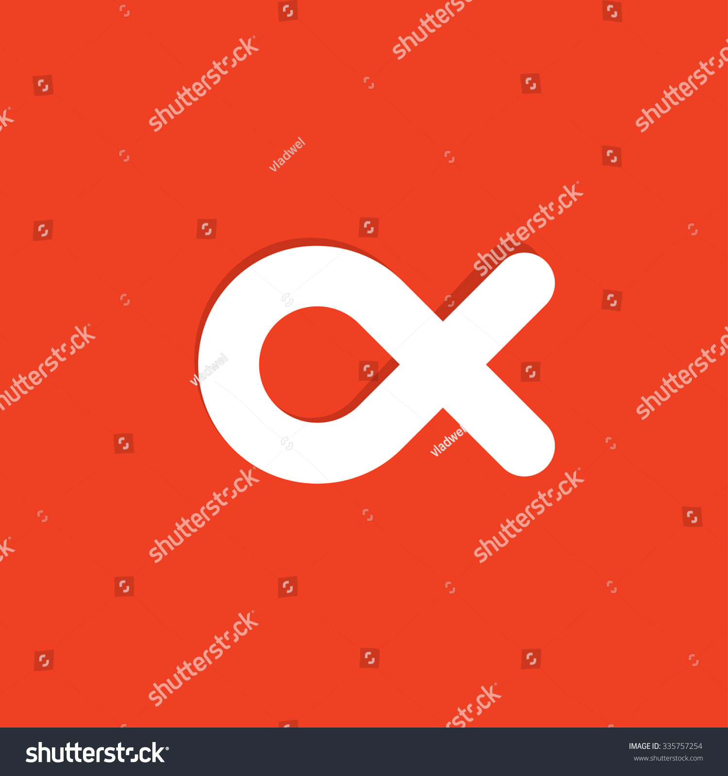 Simple Fish Vector Logo Template Design Stock Vector 335757254 ...