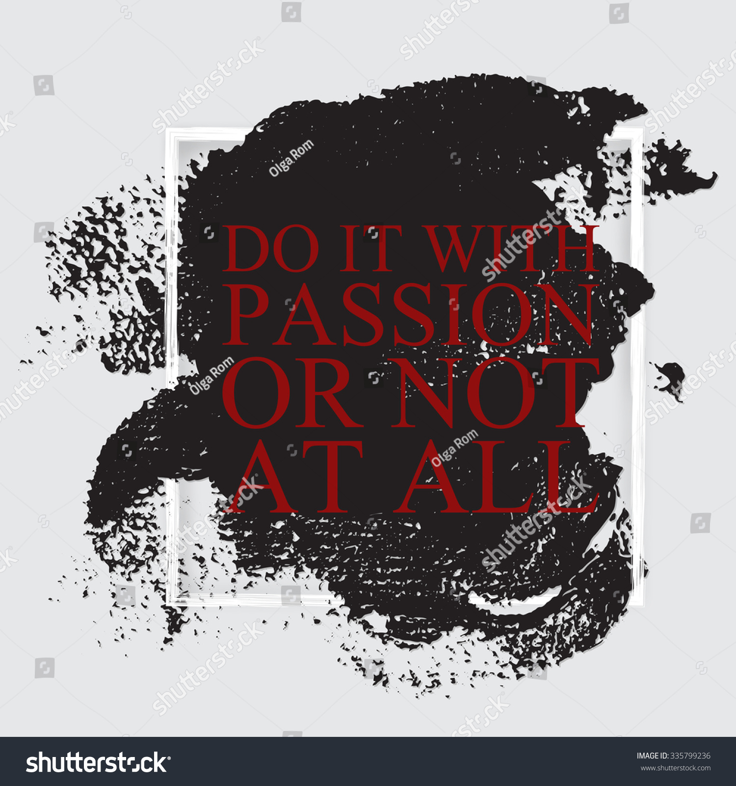 do passion not all inspirational motivational stock vector do it passion or not at all inspirational motivational career quote on the hand