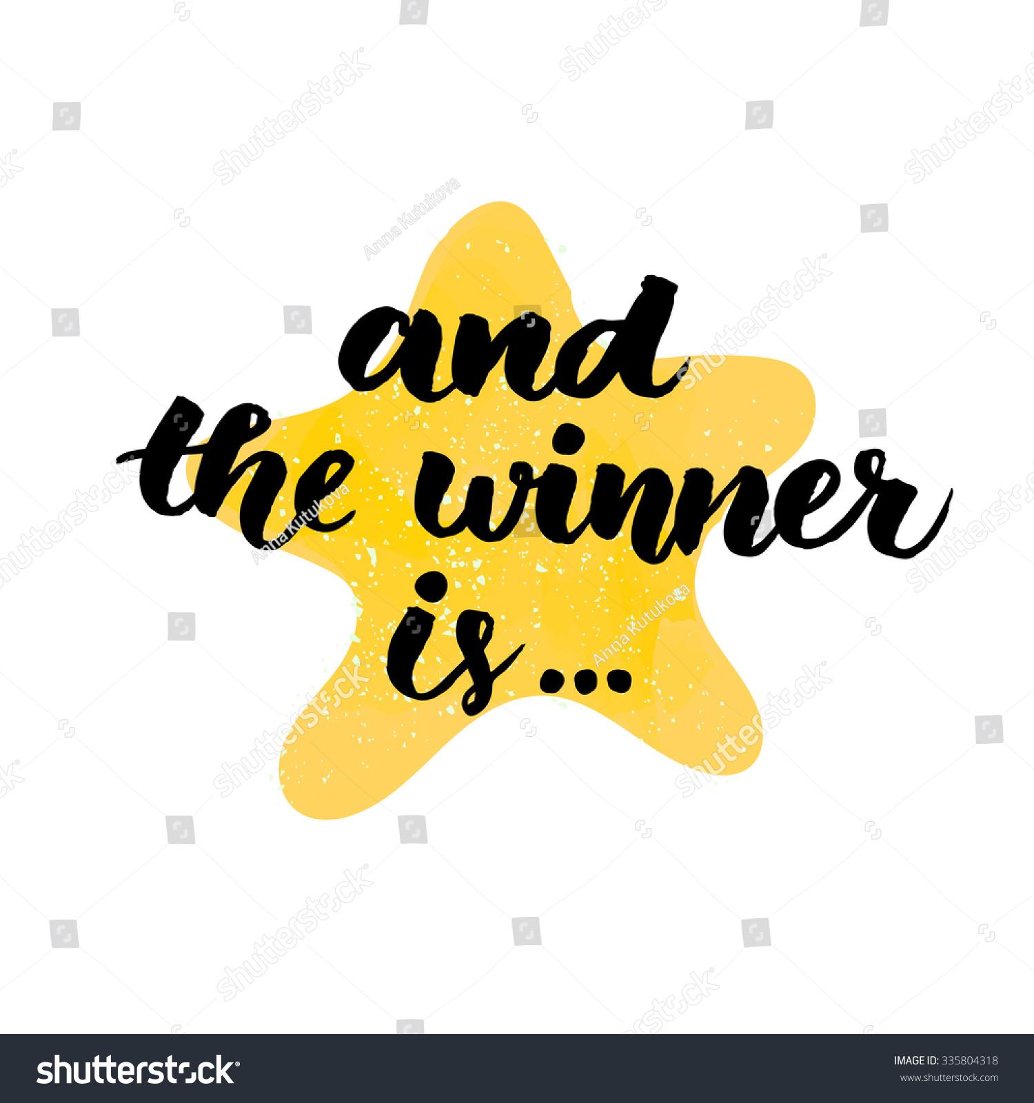 Raffle Winner Clipart