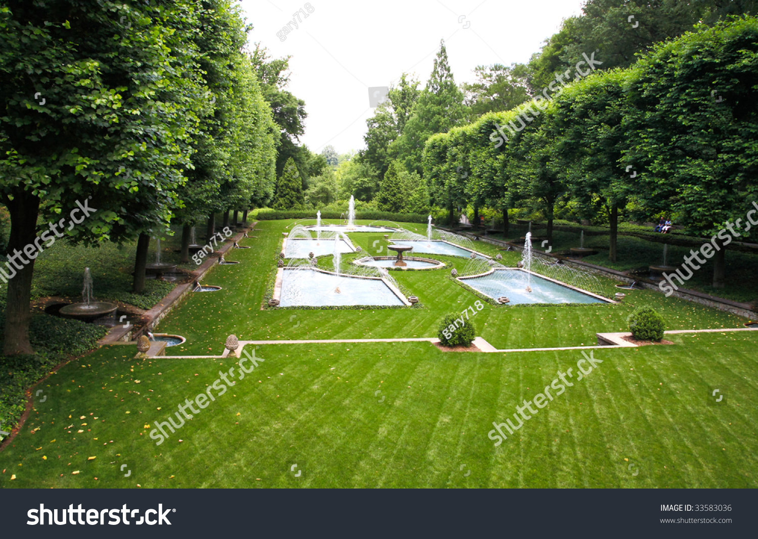 A italian garden design in a botanical garden usa stock for Botanical garden design
