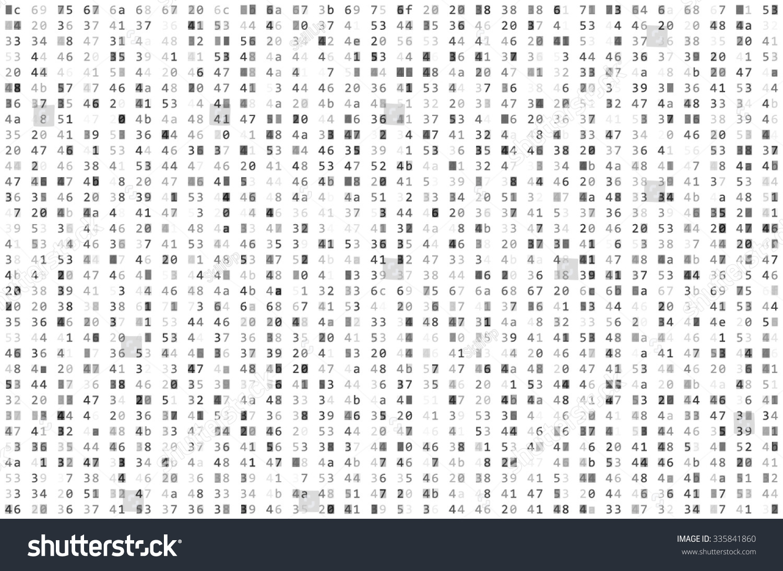 Abstract Matrix Background Binary Computer Code Stock