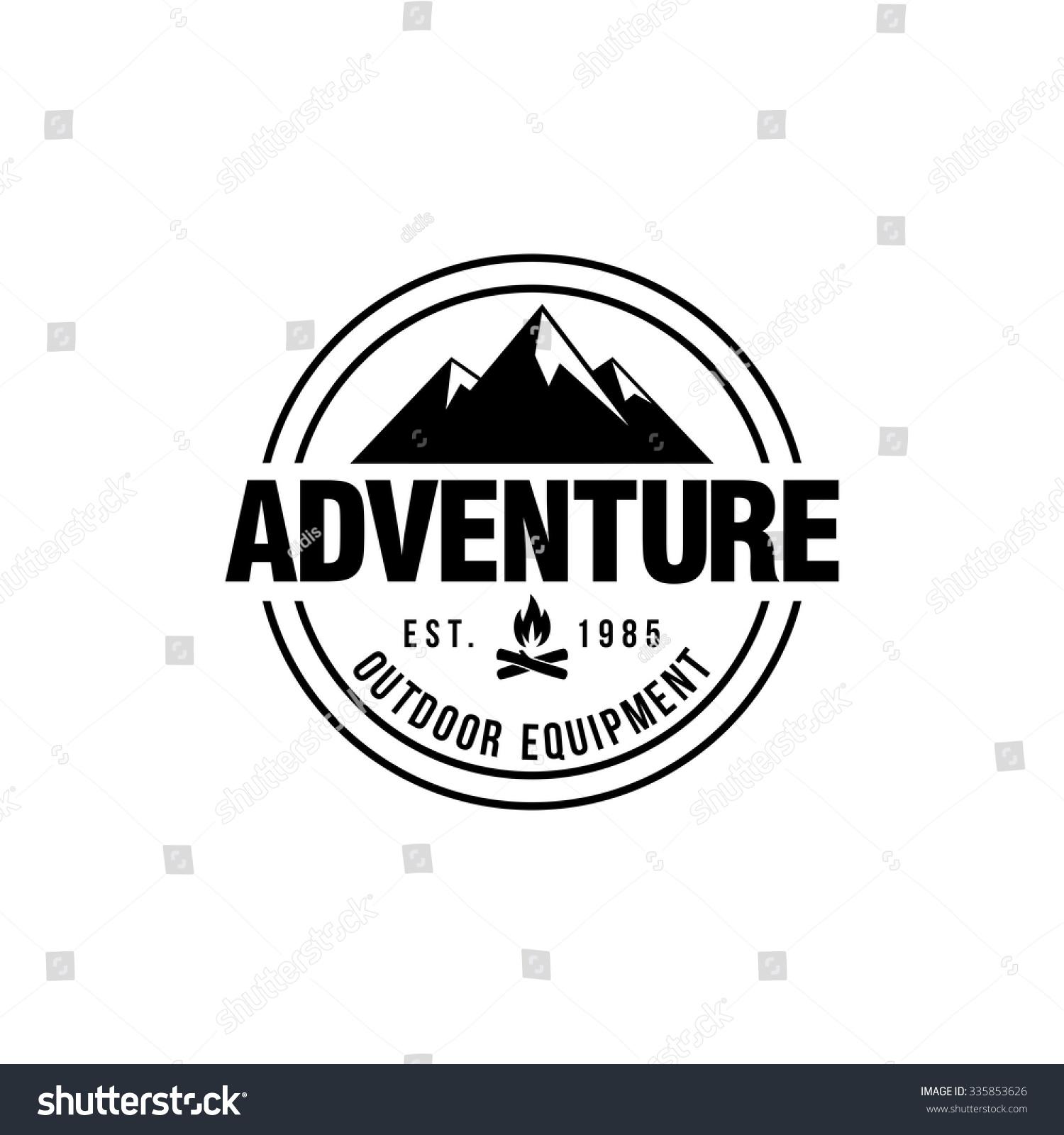 Mountain hipster logo template stock vector royalty free 335853626 mountain hipster logo template maxwellsz